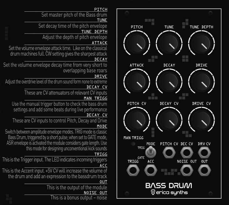 Erica Synths Bass Drum 2 Manual