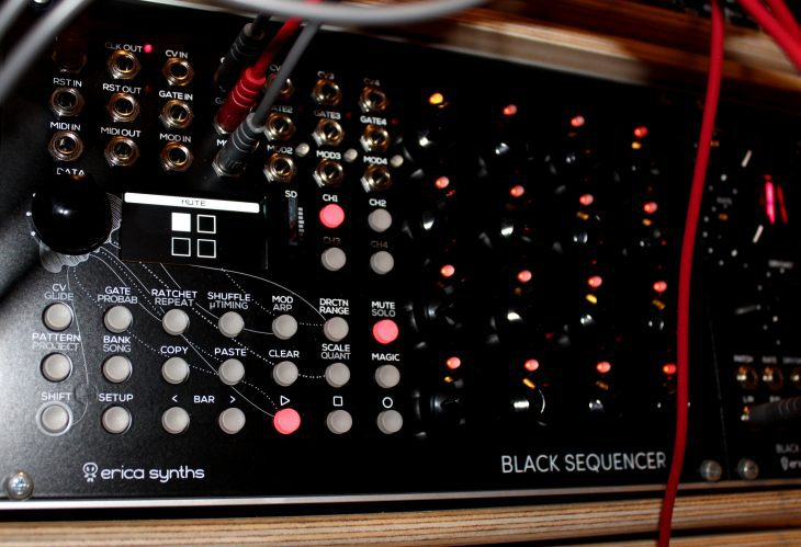 Erica Synths Black Sequencer Userbild Mute Solo