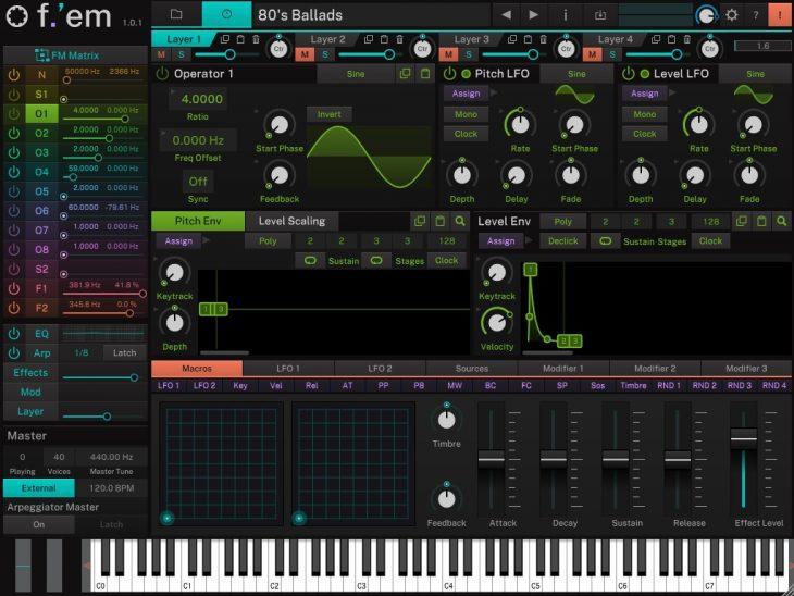 Test: Tracktion F-em FM Software-Synthesizer