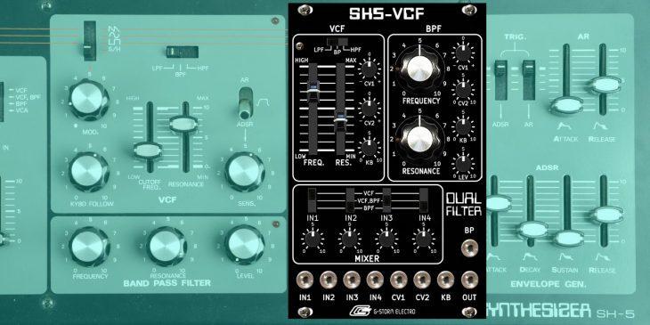 g-storm electro sh5-vcf eurorack dual filter
