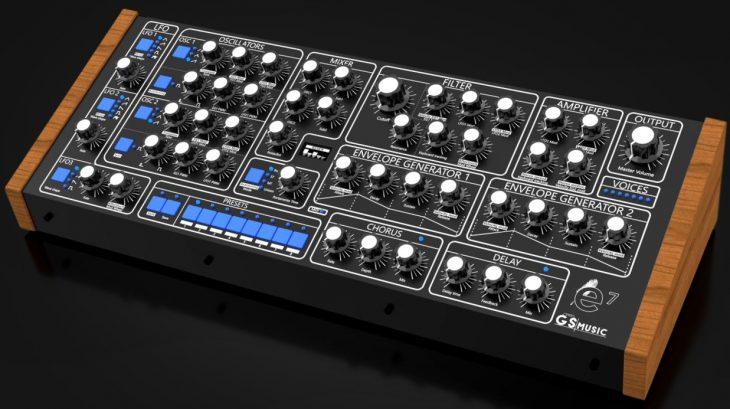 gs music e7 polyphon analog synthesizer angle