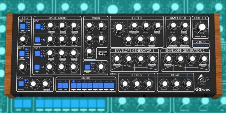 gs music e7 polyphon analog synthesizer