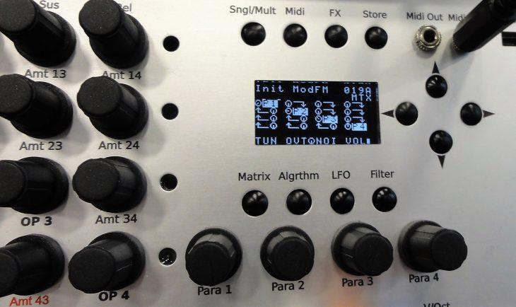 jomox mod fm synthesizer modul display