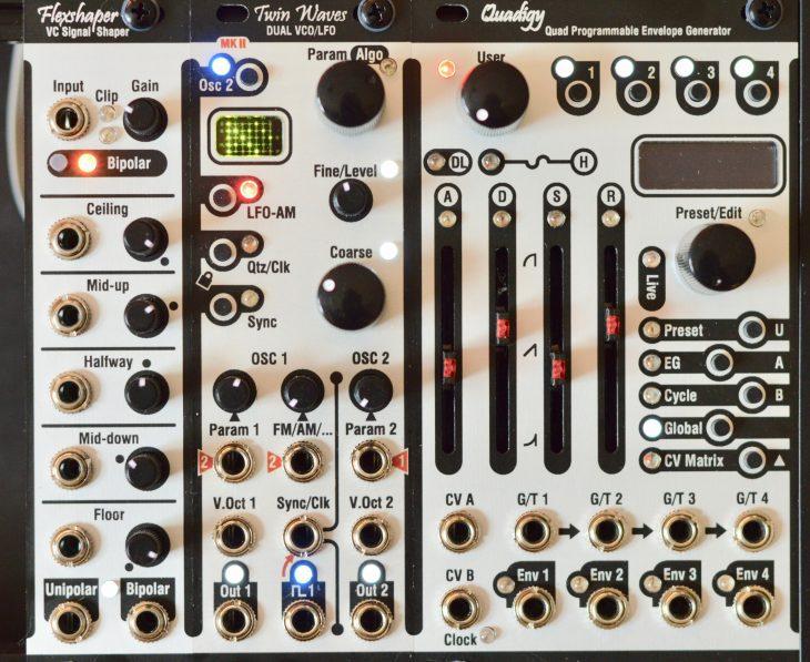 Klavis Module - v.l.n.r. Flexshaper, Twin Waves MkII, Quadigy
