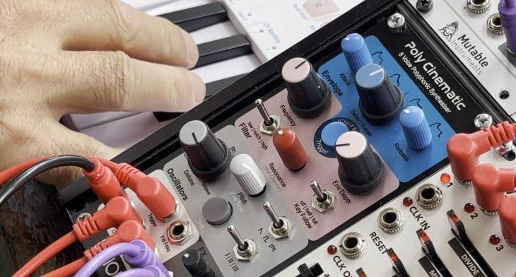 knobula poly cinematic synthesizer eurorack module