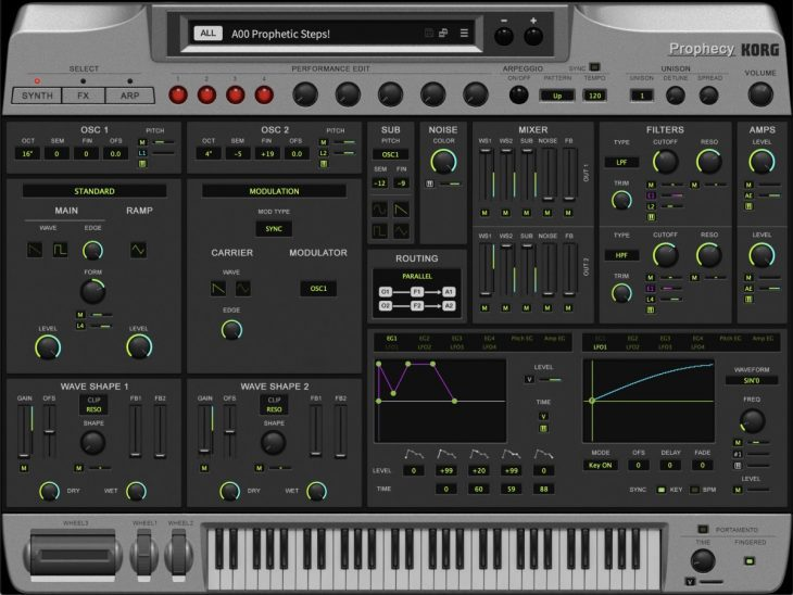 korg collection 3 prophecy synthesizer plugin