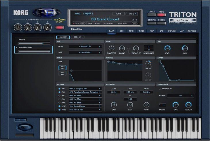 korg collection 3 triton extreme synthesizer plugin
