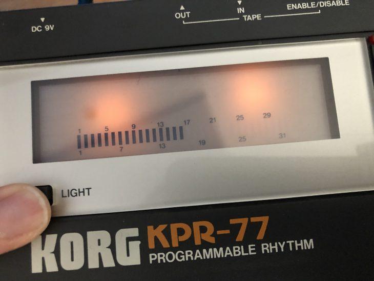 Korg KPR-77 Drumcomputer Display
