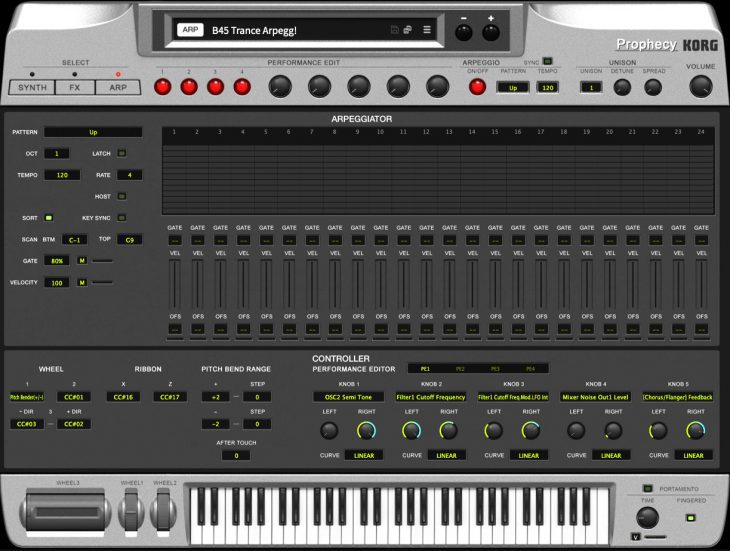 Korg Prophecy Software-Synthesizer, Plug-in
