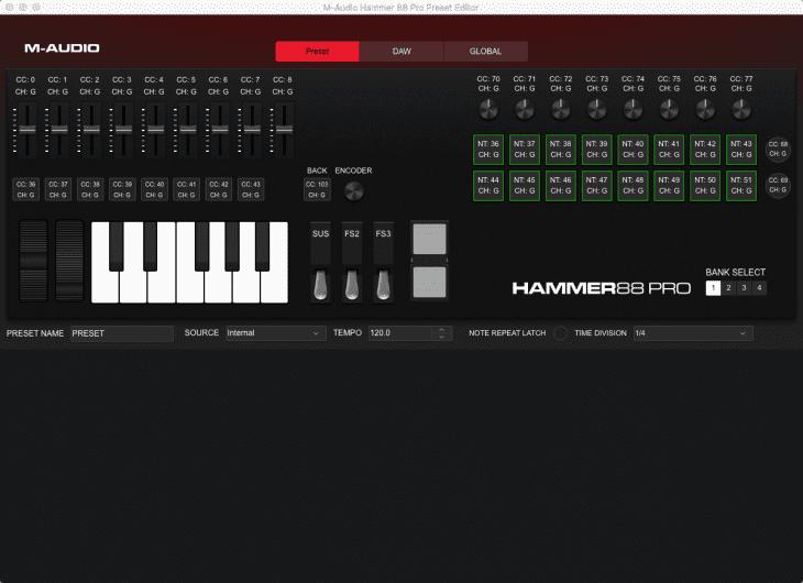 m-audio hammer 88 pro