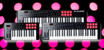 Fünfte Generation der M-Audio Oxygen Mk5 USB-Controllerkeyboards vorgestellt
