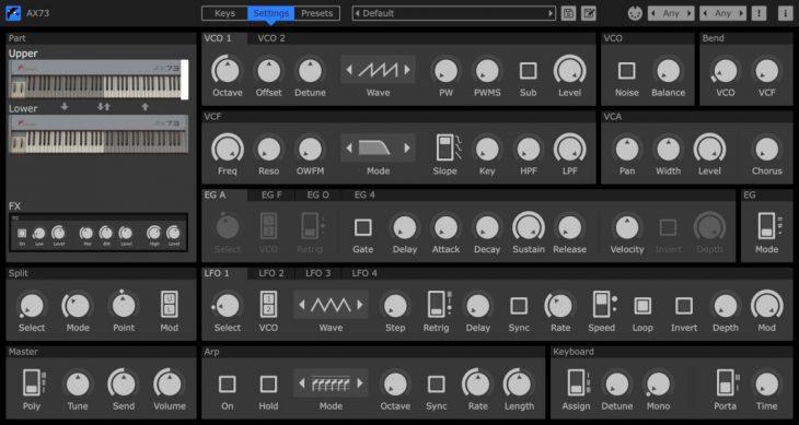martinic ax73 synthesizer plugin new panel