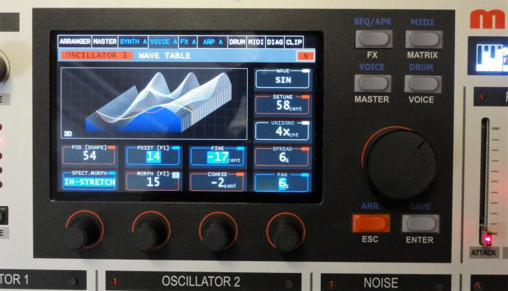 mayer rd900 synthesizer display