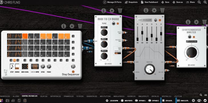 CV Module steuern FX - MIDI