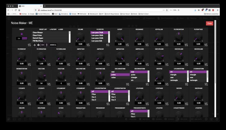 TAL noisemaker parameterflut