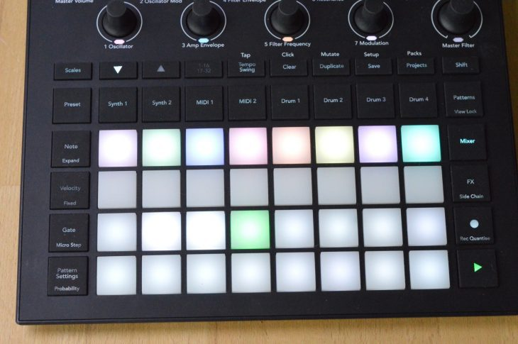 Novation Circuit Tracks - Scenes im Mixer-Panel