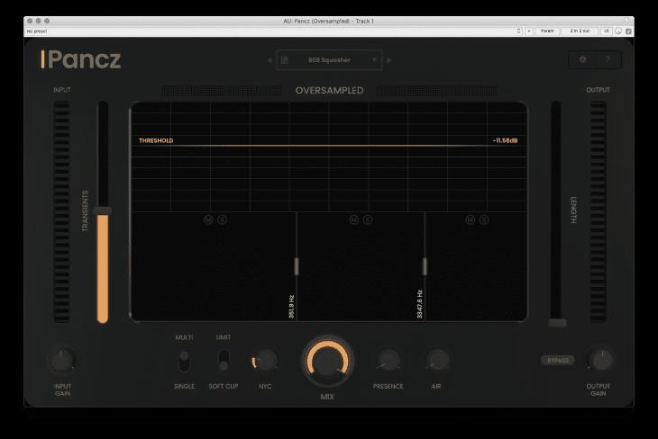 Oversampled Pancz - Start-Screen