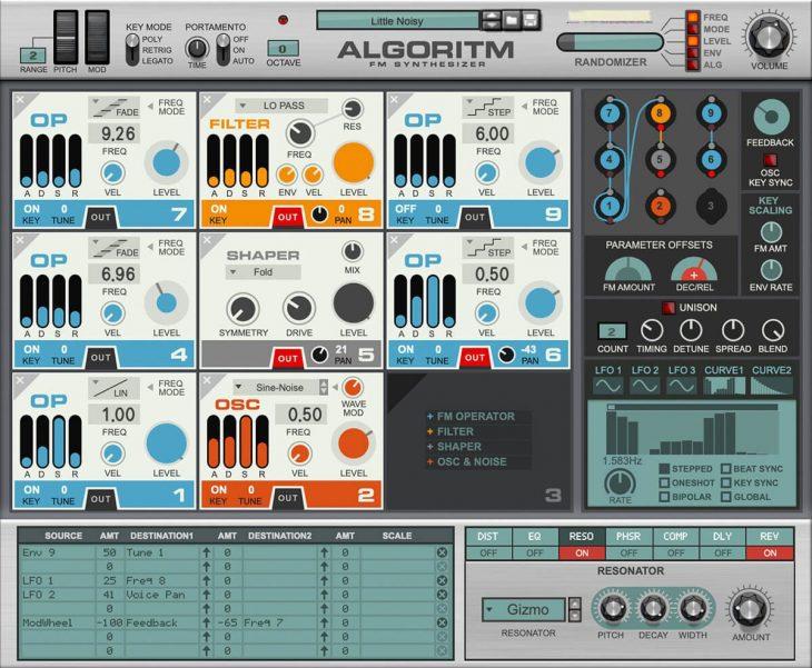 algorithm fm-synthesizer