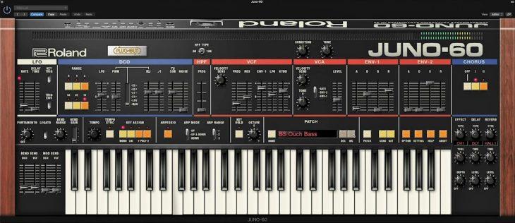 roland juno-60 plugin plugout synthesizer