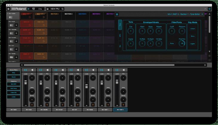 Roland MV-1 Verselab - Cloud MV-1 Edit über Zenbeats