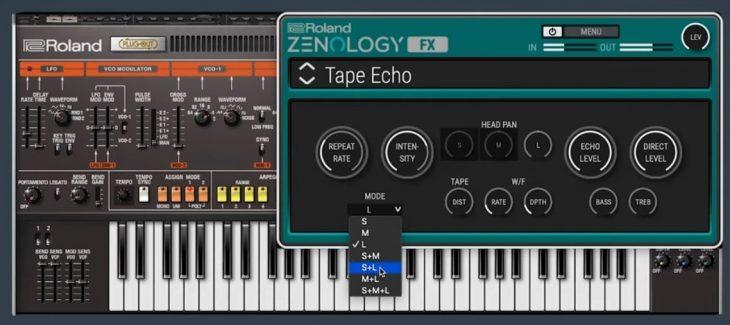 roland zenology fx plugin tape echo