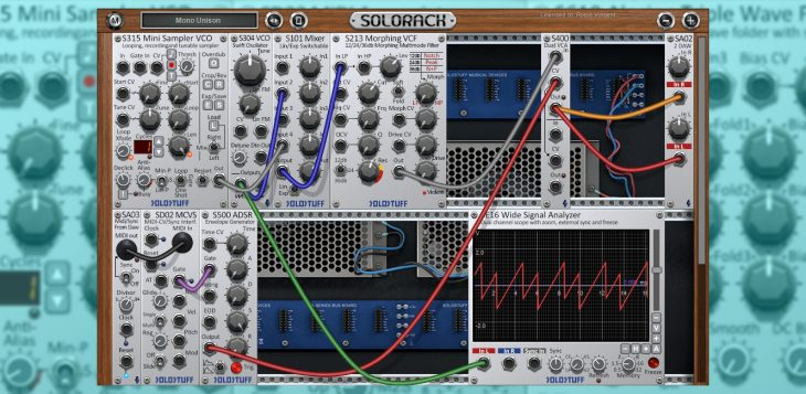 solostuff solorack 2.0 modular synthesizer plugin