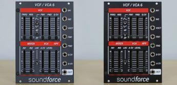NAMM 2021: Soundforce VCF/VCA 6, Eurorack-Modul
