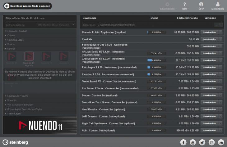 Steinberg Nuendo 11 Steinberg Download Assistant