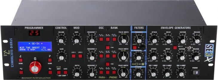 studio electronics SE-3X synthesizer front