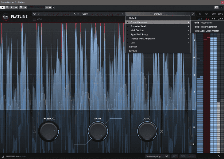 Submission Audio - Flatline - Presets