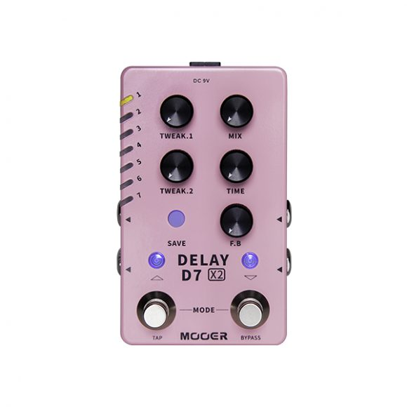 Test: Mooer D7 X2, Delay-Pedal