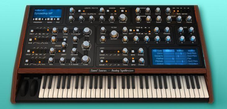 tone2 saurus 3 synthesizer plugin