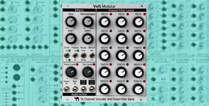 vois modular 15 channel vocoder fixed filter bank eurorack