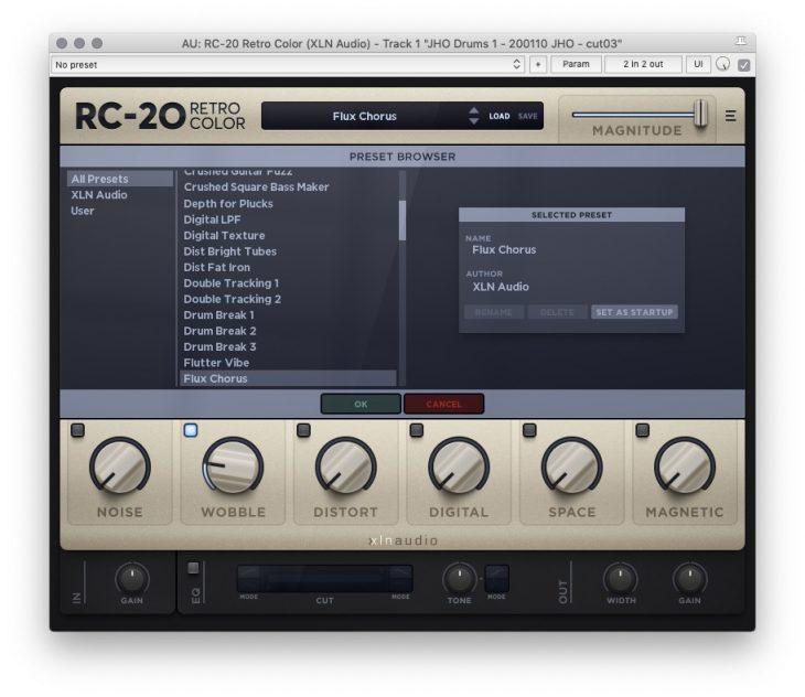 XLN Audio RC-20 - Presetverwaltung