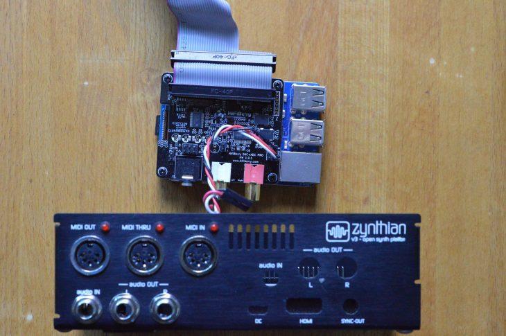 Zynthian Upgrade auf Raspberry Pi 4 - Audiokarte loesen