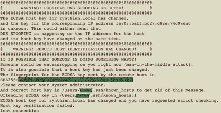 Achtung Spoofer entdeckt: die neue Hardware im Zynthian verlangt ein neues Sicherheitszertifikat