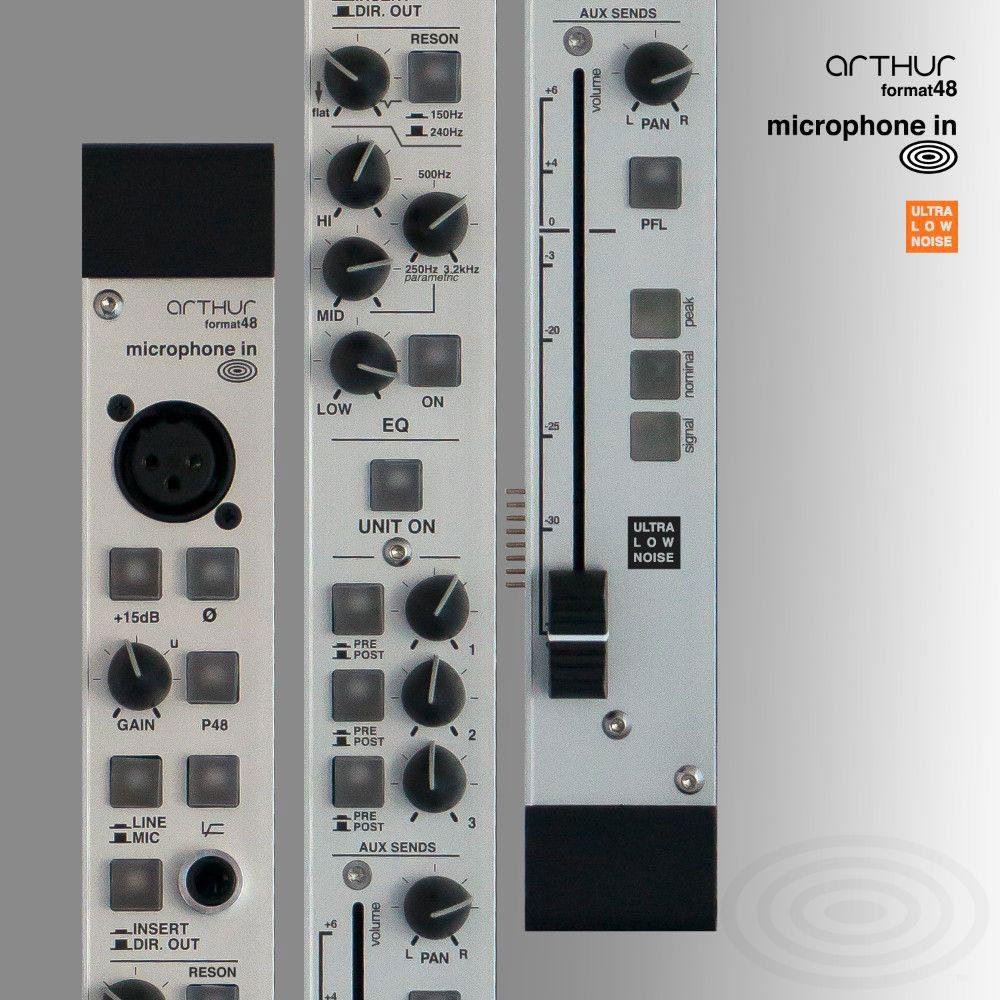 Test Schertler Arthur Format 48 Analoger Modularmixer Ultra Low Noise Microphone Input