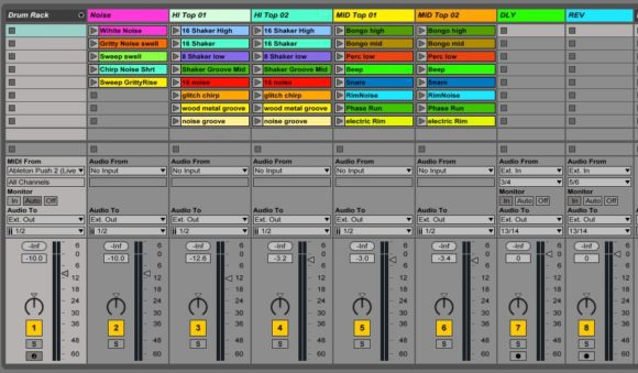 Ableton Live Kanalrouting