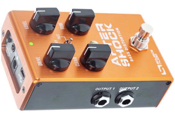 Die Stereoauslegung des Source Audio AfterShock Bass Distortion birgt vielfältige Sound und Routingoptionen!