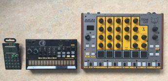 Vergleichstest: Akai Tom Cat, Korg Volca Beats, Teenage Engineering PO-12 rhythm, Grooveboxen