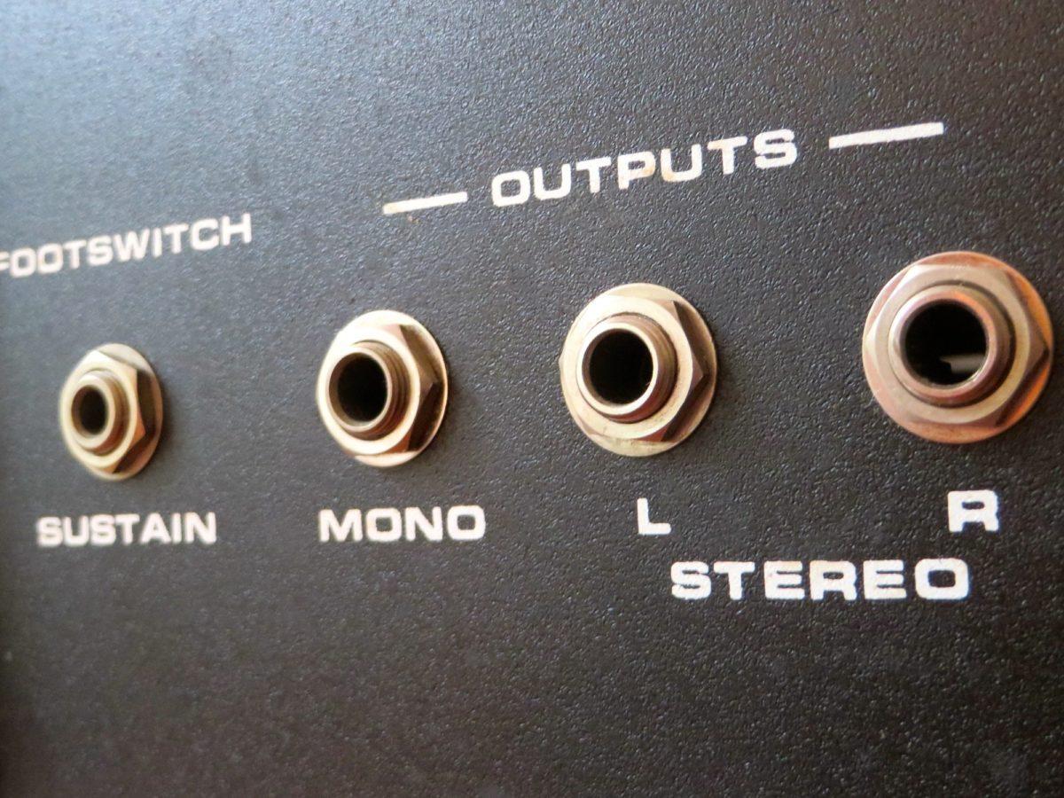 Interessantes Feature – die Stereoausgänge des Opus 3