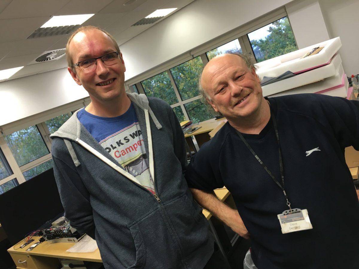 Rob Belacham (l) und Dave Gerrard (r)