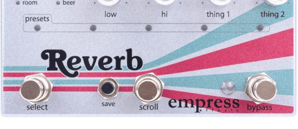 Empress Effects Reverb Schalter Switches