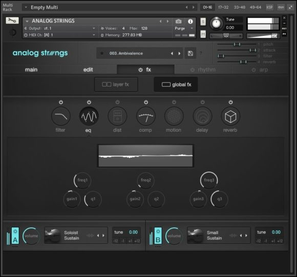 Output Anlog Strings - FX Fenster