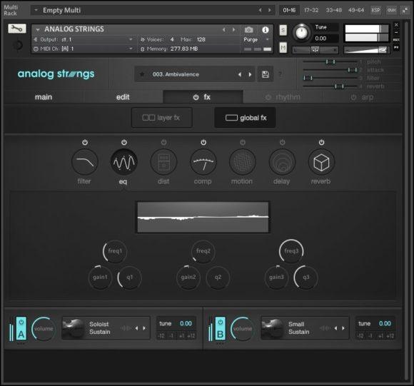 Output Anlog Strings - FX Fenster