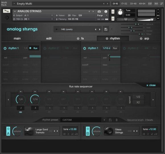 Output Analog Strings - Rhythm Fenster