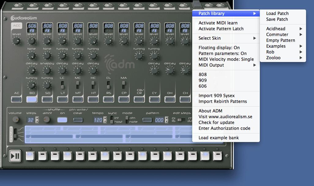 audiorealism drum machine mac