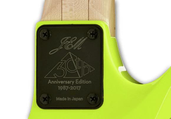 Die besten E-Gitarren 2017 Steve Vai JEM Backplate