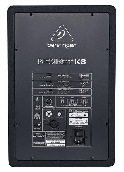 Behringer Nekkst K8 Rückseite