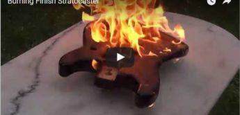 Burning Finish: E-Gitarre mit verbranntem Look